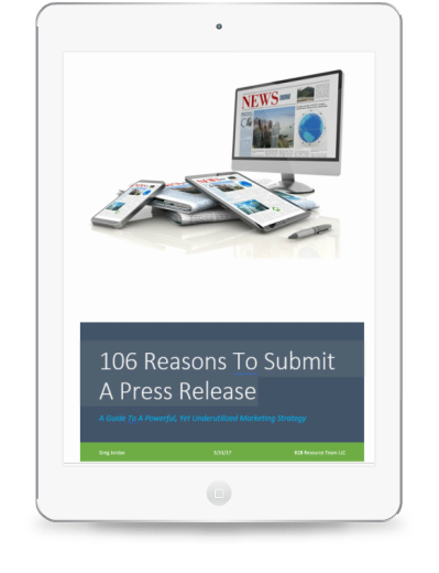 reasons to submit a press release